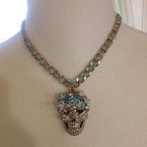 Betsey Johnson sugar skull necklace NWT